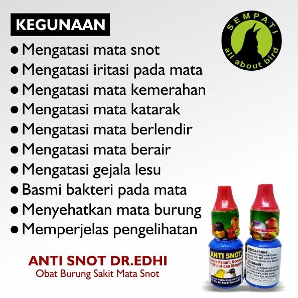 Anti Snot Dr Edhi Obat Burung Sakit Mata Berlendir Bengkak Lesu Bulu Ngembang Sempati Bird Shop