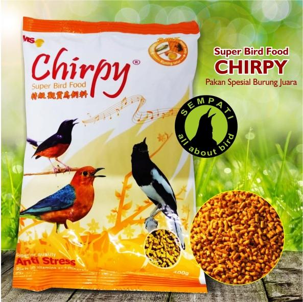 Chirpy 3 In 1 Formula Superior Matahari Sakti Pakan Burung Kacer Murai Anis Sempati Bird Shop