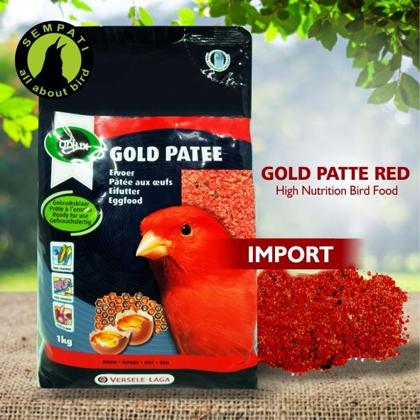 GOLD PATTE RED VERSELE LAGA PAKAN BURUNG KENARI MERAH LOVEBIRD