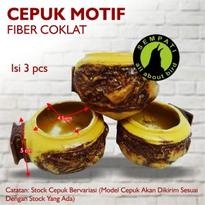 CEPUK FIBER MOTIF COKLAT 1