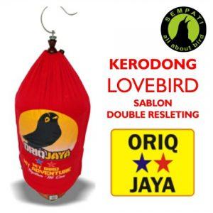 KRODONG LOVEBIRD SABLON DOUBLE SLETING ORIQ HOME LOGO