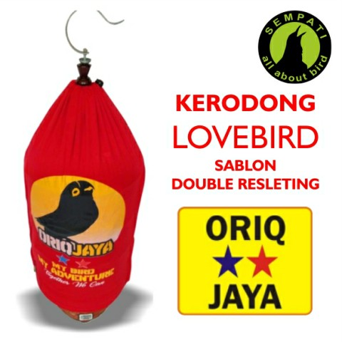 KERODONG KRODONG SANGKAR BURUNG LOVEBIRD SABLON DOUBLE SLETING ORIQ JAYA