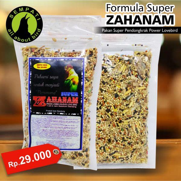 SUPER ZAHANAM 100 GR PAKAN BURUNG LOVEBIRD