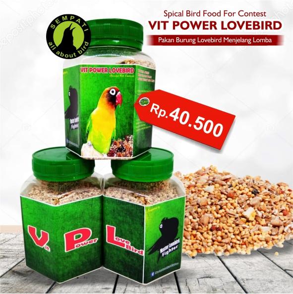 VIT POWER LOVEBIRD PAKAN LOMBA BURUNG KEMASAN TOPLES