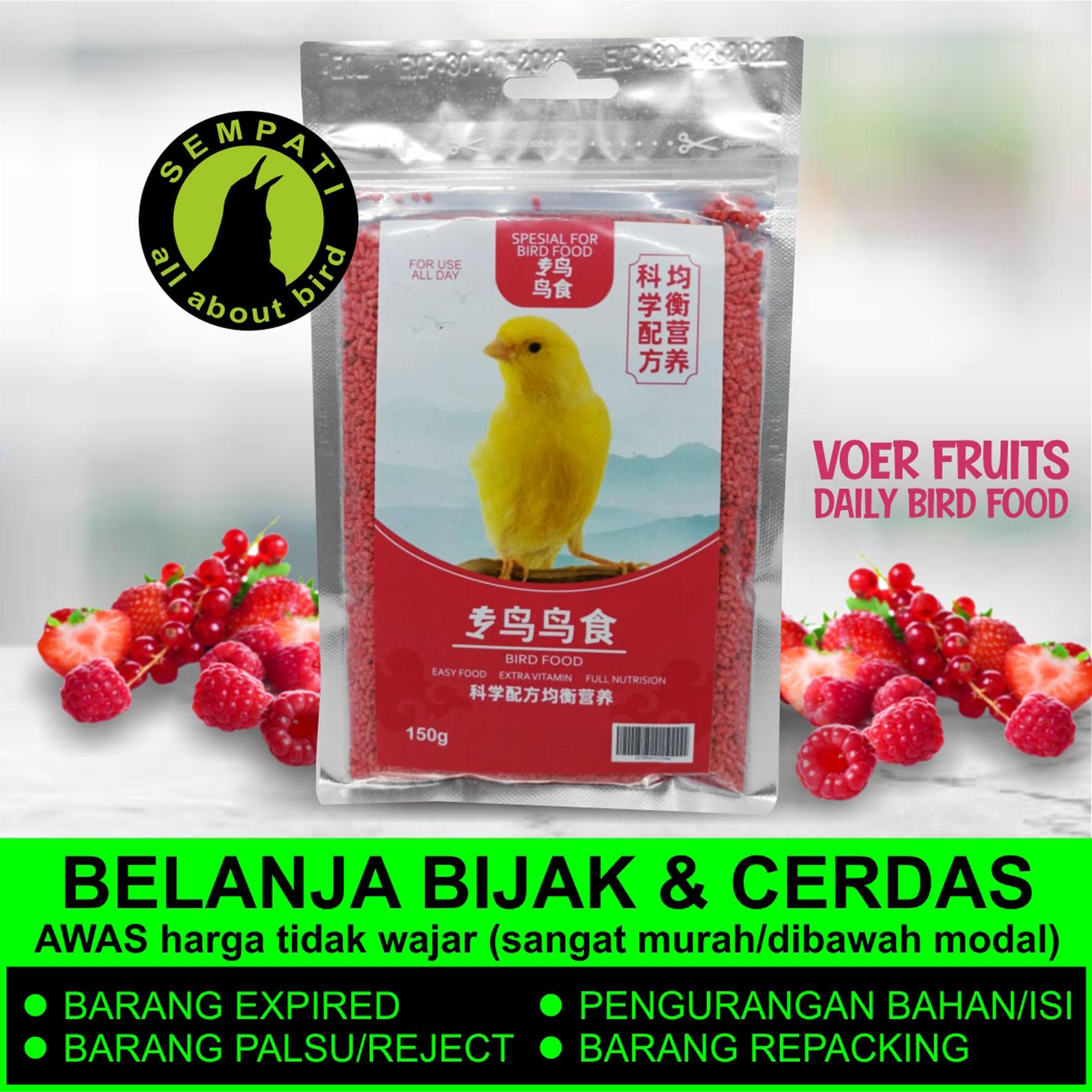 Cede Red Food Probird Import Pakan Kenari Makanan Burung Finch Pleci Gelatik Voer Pur Pelet Pellet Merah Redpro Sempati Bird Shop